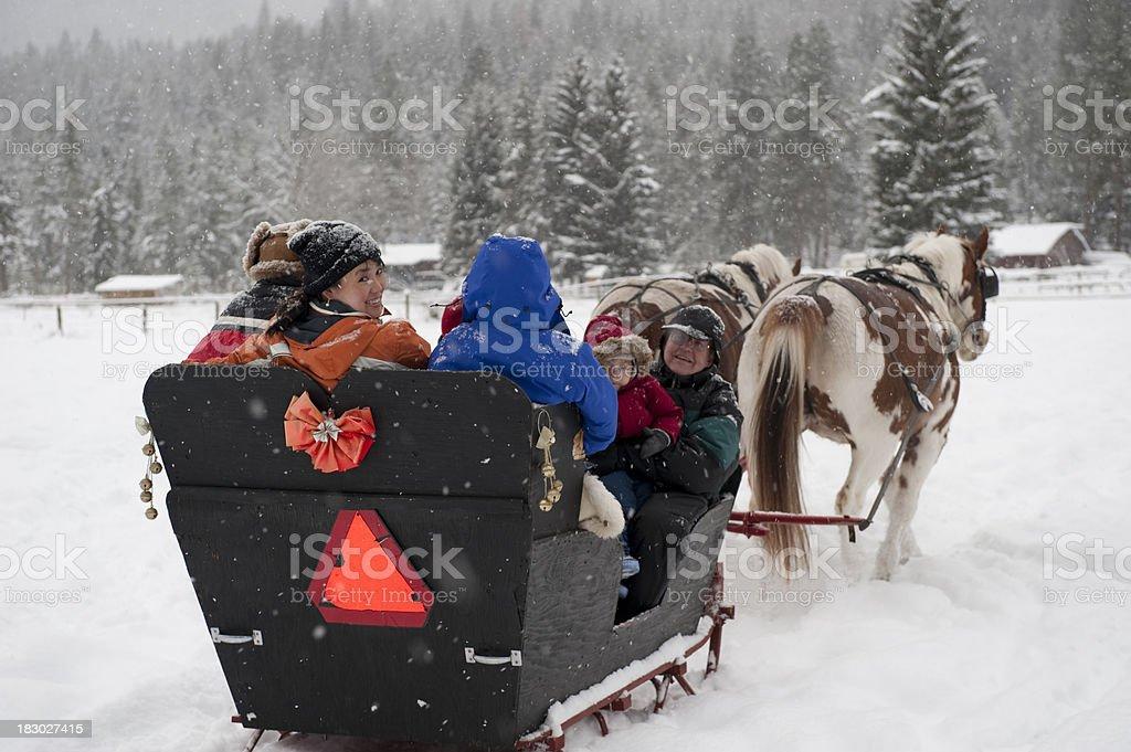 Sleigh Ride royalty-free stock photo