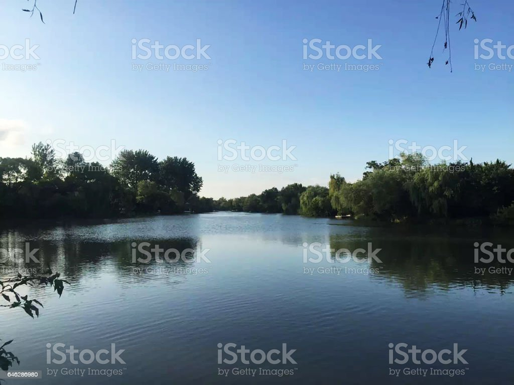 Slender West Lake in Yangzhou China in summer stock photo