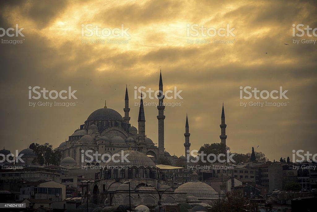 Süleymaniye Mosque, Istanbul stock photo