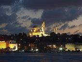 Süleymaniye Mosque under sunset in Istanbul, Turkey.