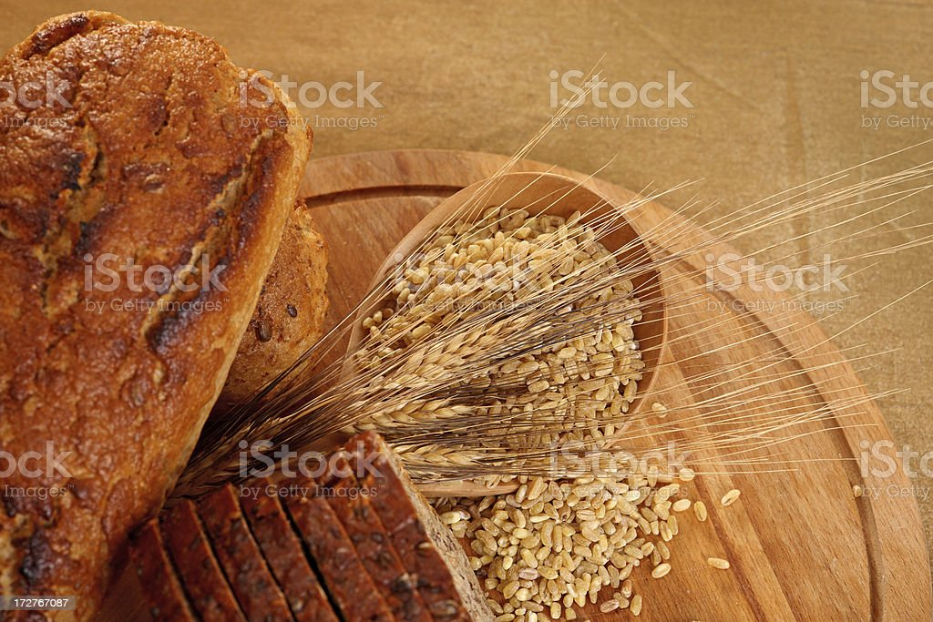 Slice and  Loaf Bio Bread royalty-free stock photo