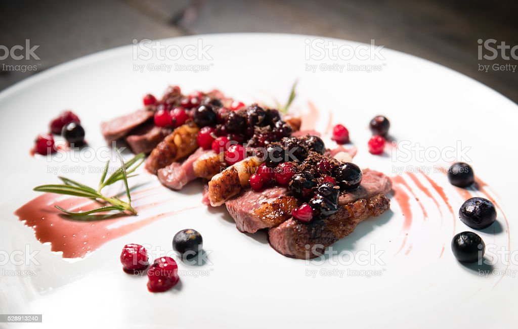Slice duck filet stock photo