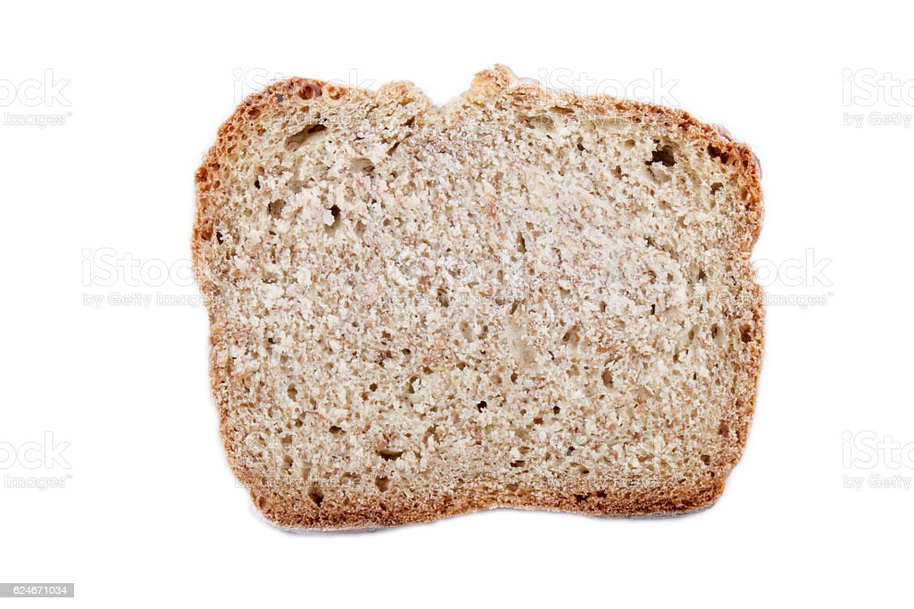 slice irish soda bread, isolated on white stock photo