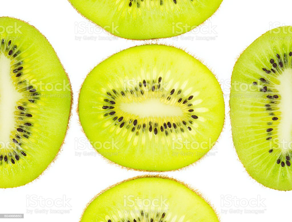 Slice kiwi isolated on white background royalty-free stock photo