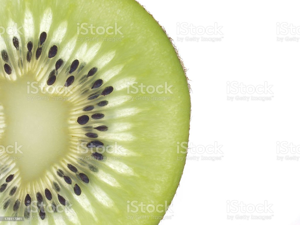 slice kiwi stock photo
