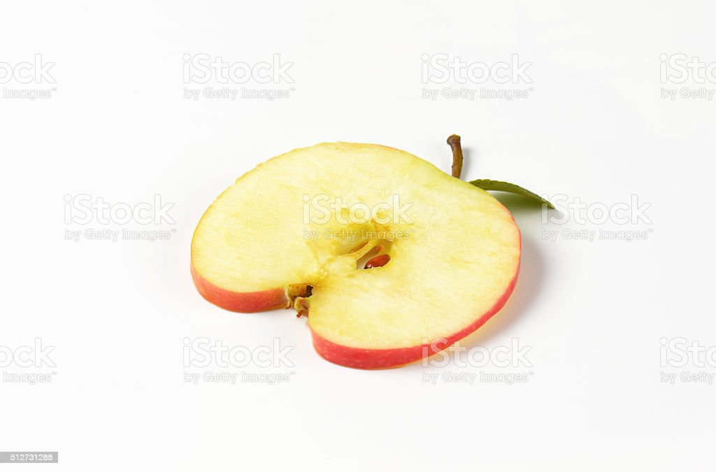 slice of an apple stock photo