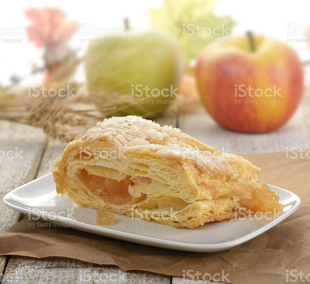 Slice Of An Apple Strudel stock photo