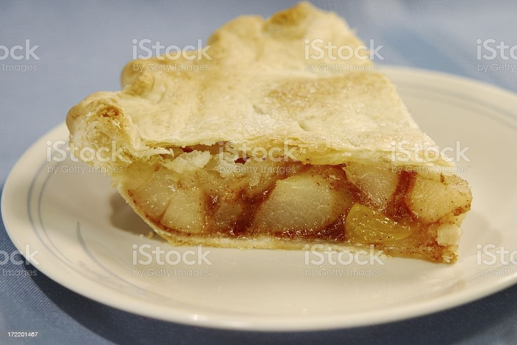 Slice of apple Fruit Pie on plate 3 royalty-free stock photo