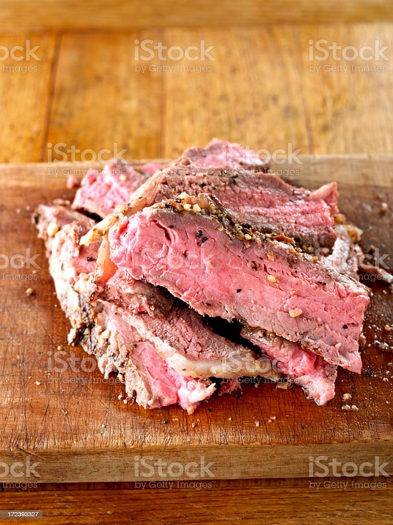 Slice of BBQ Steak royalty-free stock photo