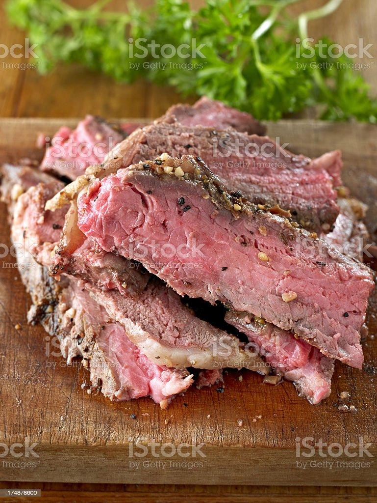 Slice of BBQ Steak royalty-free stock photo