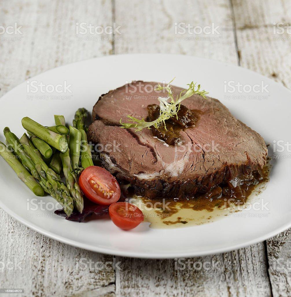 Slice Of Beef Roast stock photo