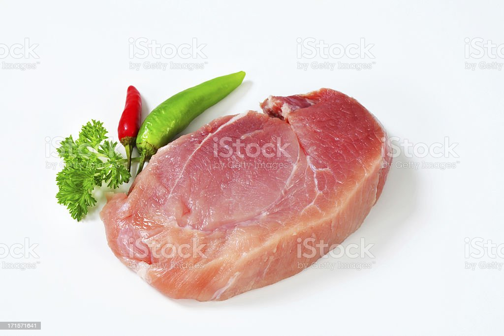 Slice of beef shoulder royalty-free stock photo