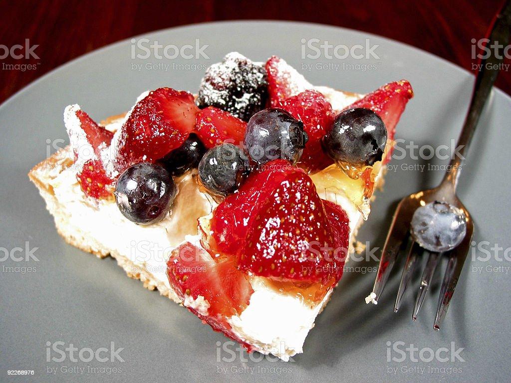 Slice of berry cake royalty-free stock photo