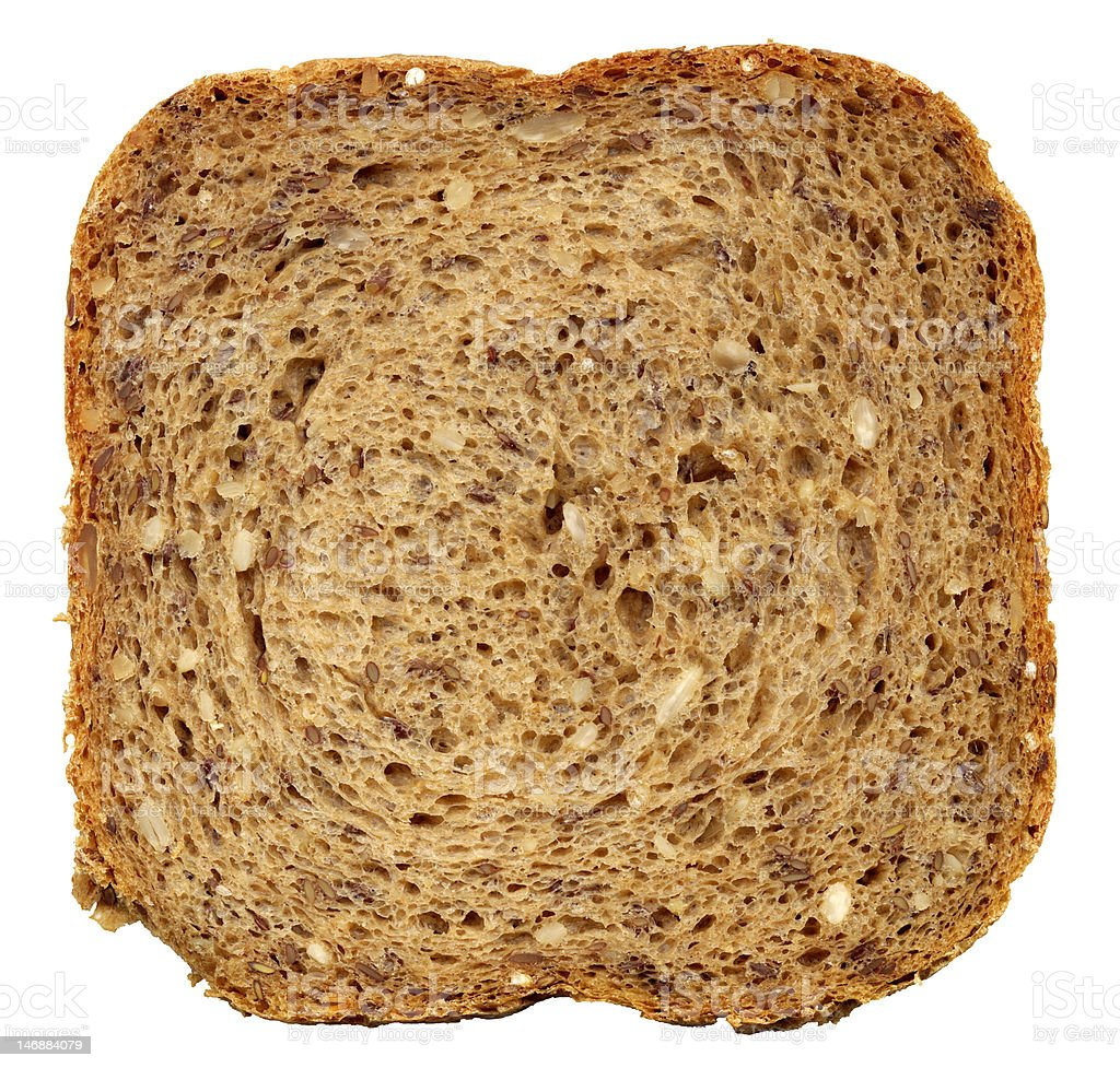 Slice of bread royalty-free stock photo