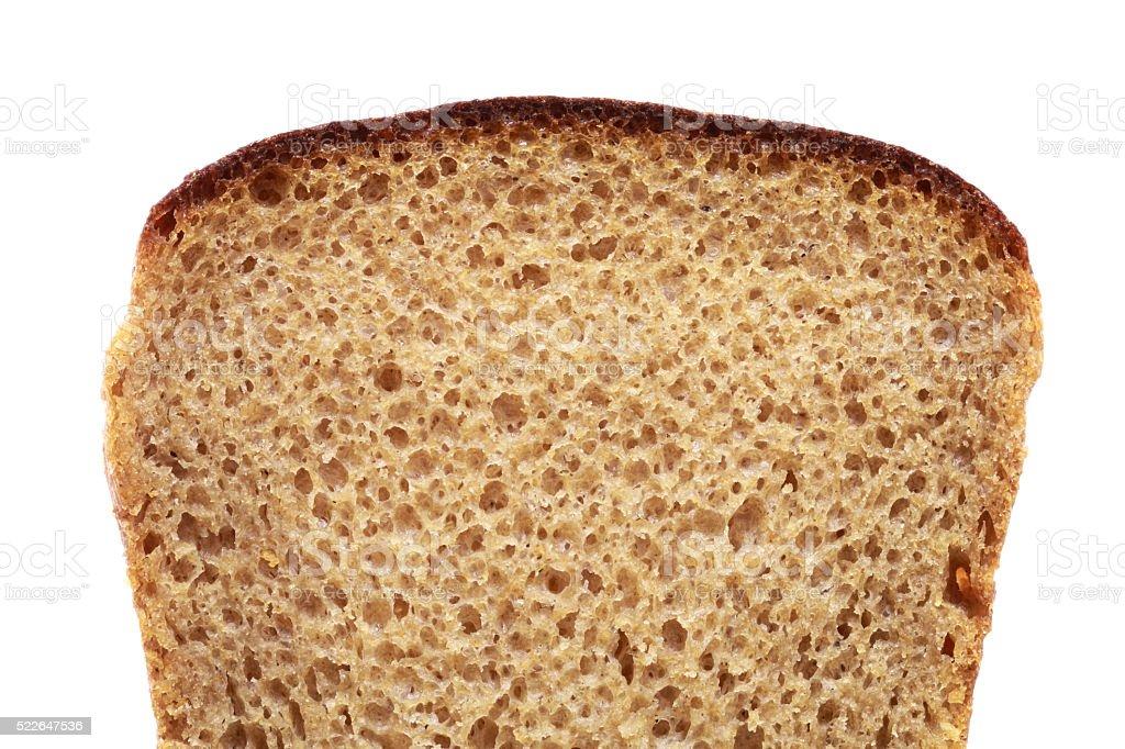 Slice of Brown Bread stock photo