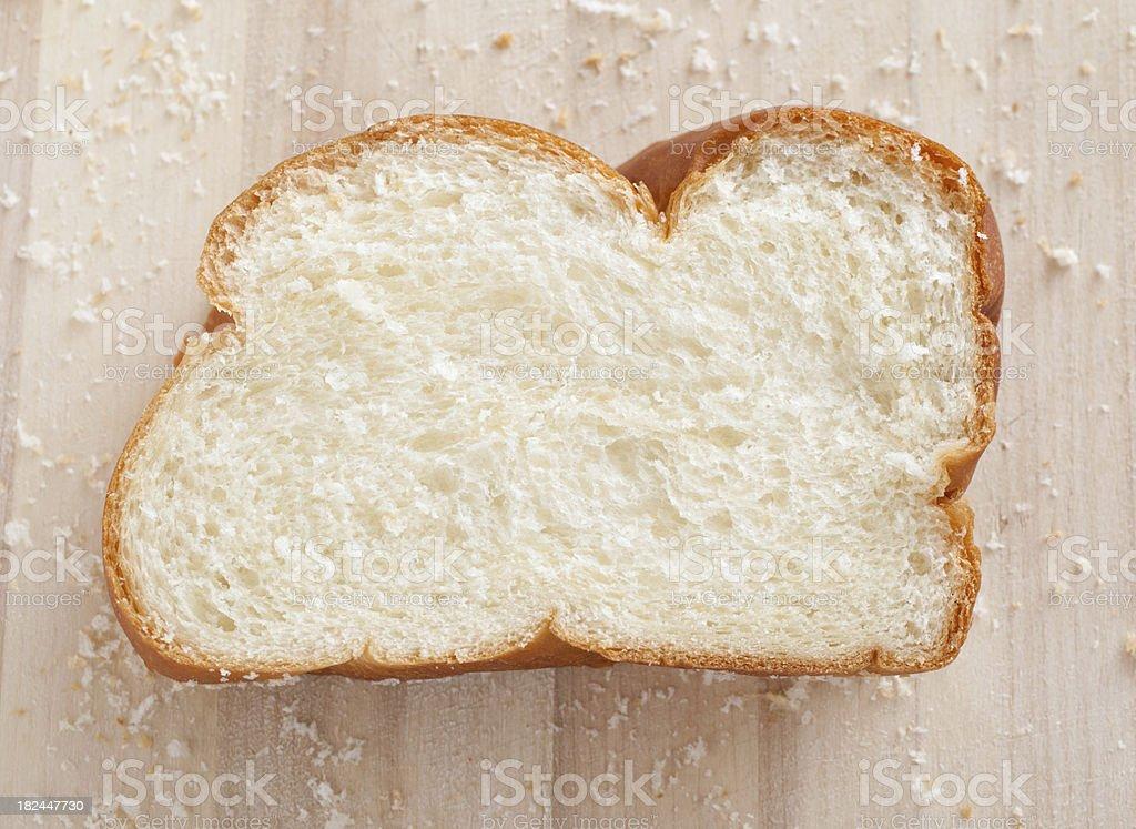 Slice of Challah Bread stock photo