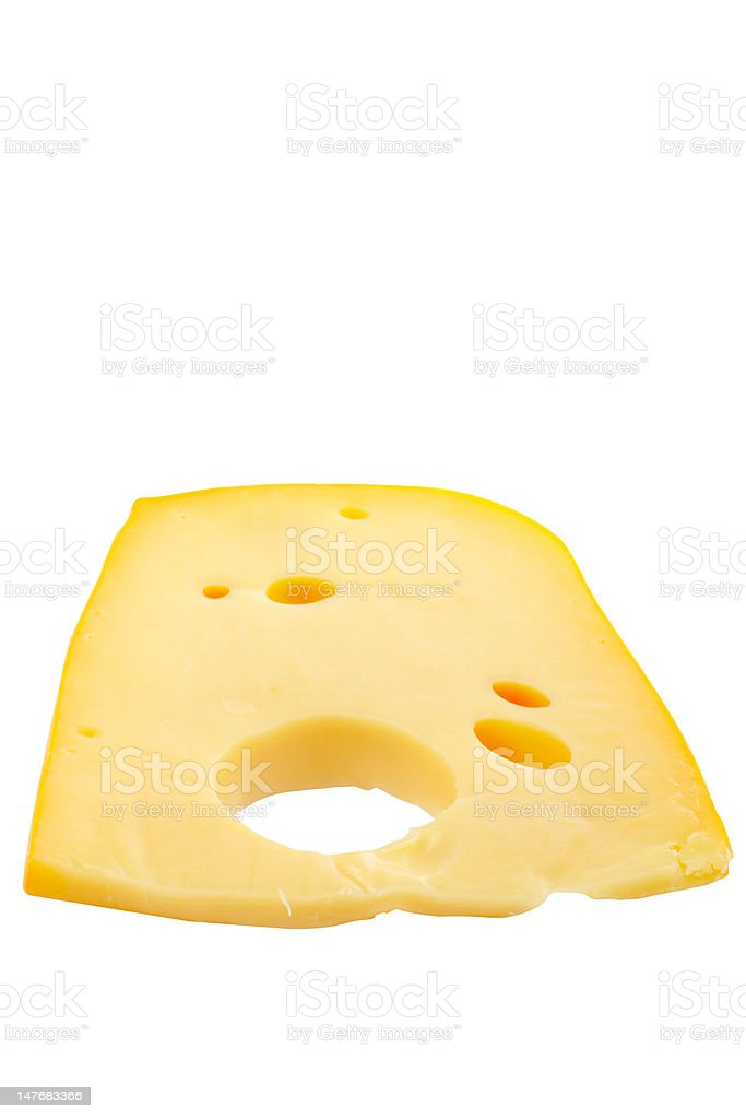 Slice of cheese royalty-free stock photo