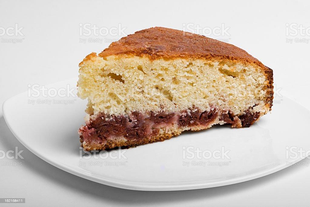 Slice of cherry pie royalty-free stock photo