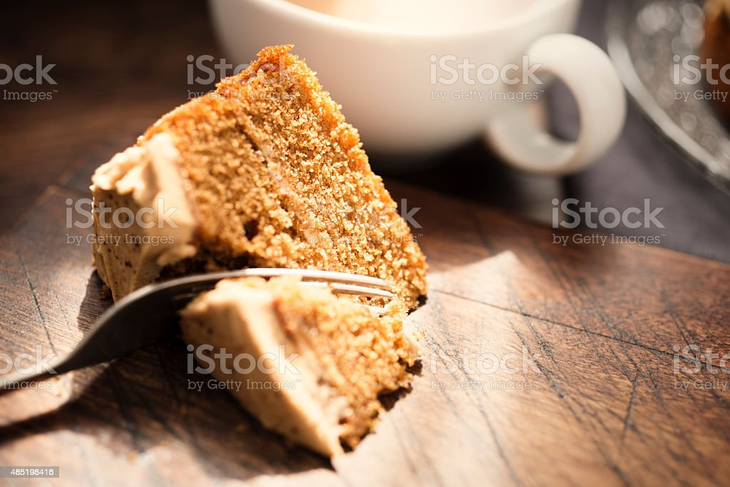 Slice of Coffee Cake stock photo