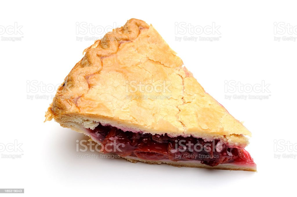 Slice of delicious looking pie stock photo