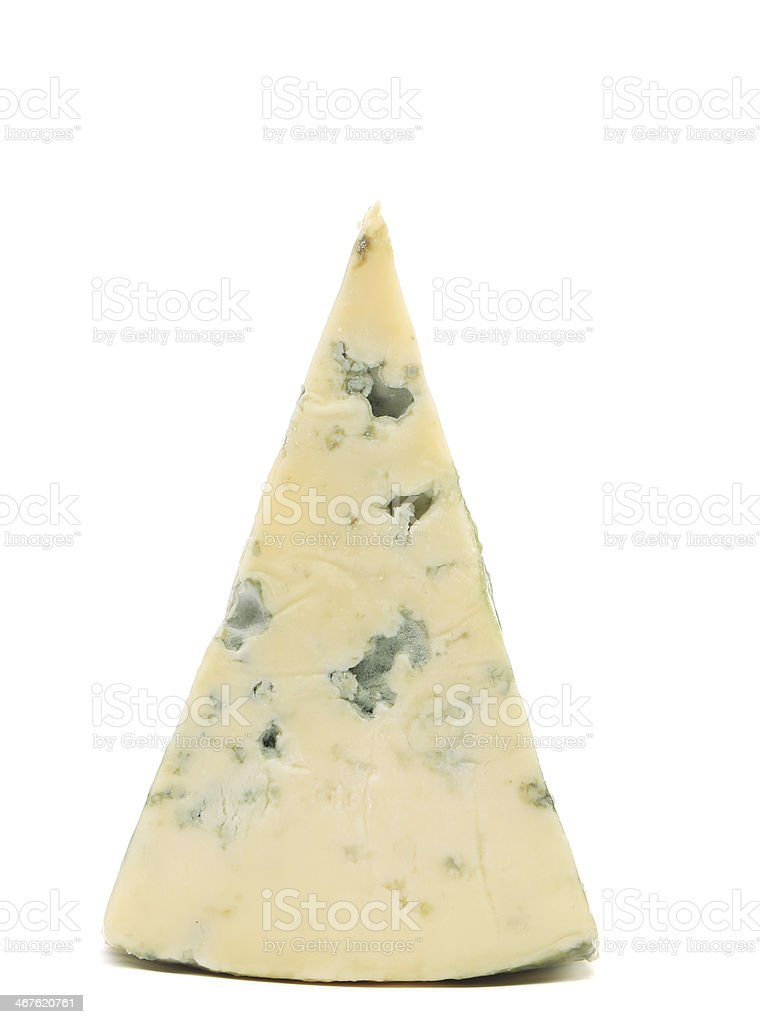 Slice of dor blue cheese. royalty-free stock photo