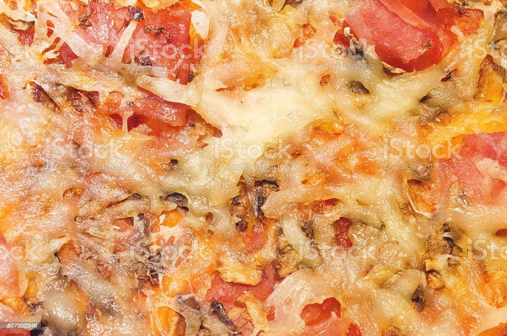 Slice of fresh italian classic original Pizza royalty-free stock photo