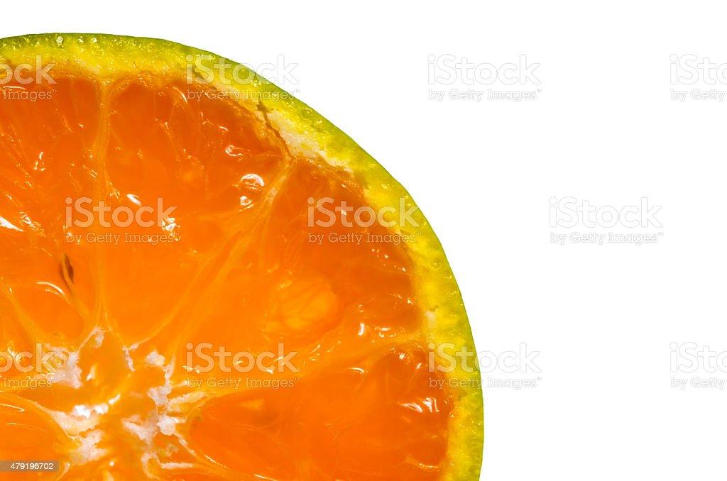 Slice of fresh kamala orange stock photo