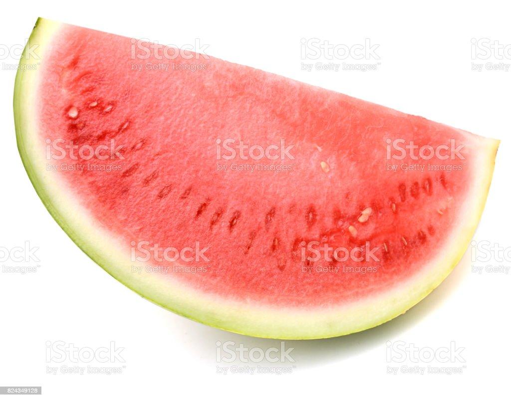 slice of fresh watermelon isolated on white background stock photo