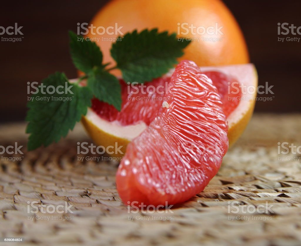 slice of grapefruit stock photo