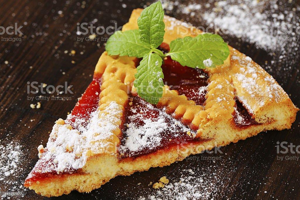 slice of lattice pie royalty-free stock photo