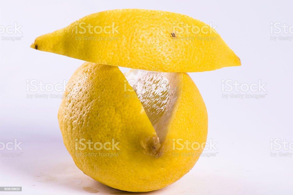 Slice of lemon royalty-free stock photo