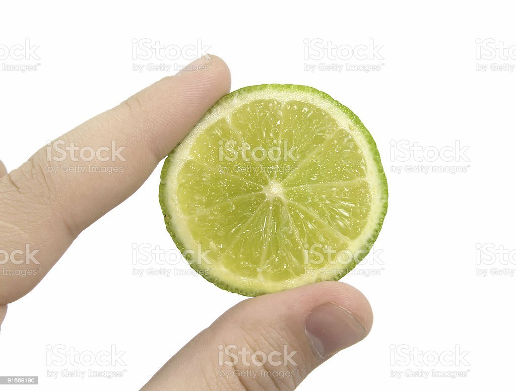 Slice of lime royalty-free stock photo