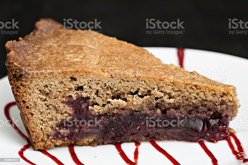 Slice Of Linzer Torte stock photo