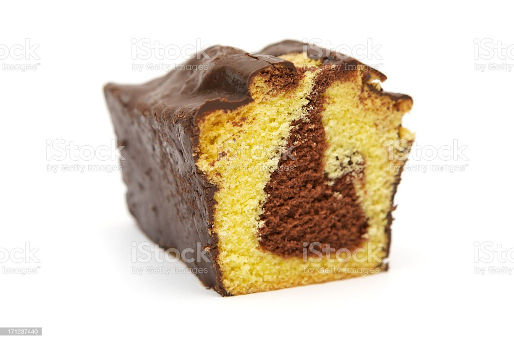 Slice of Marble Cake royalty-free stock photo