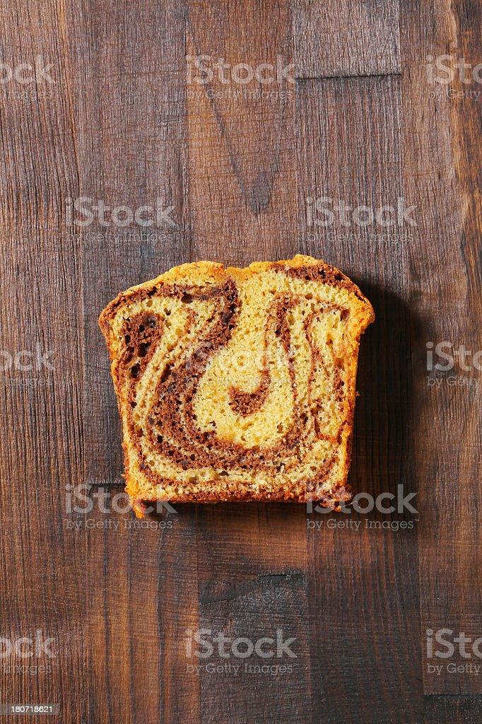 slice of marble cake royalty-free stock photo