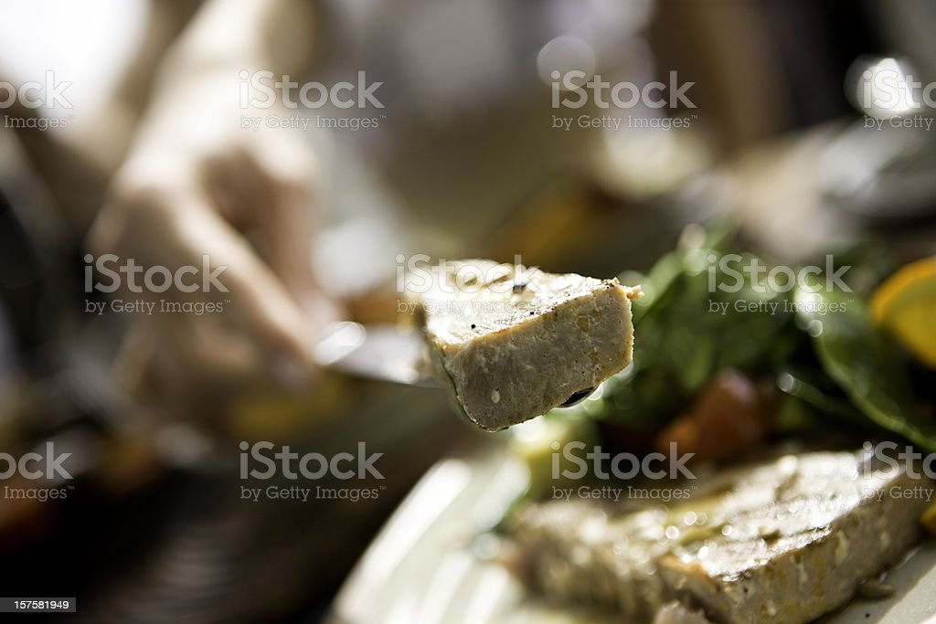 Slice of meat royalty-free stock photo