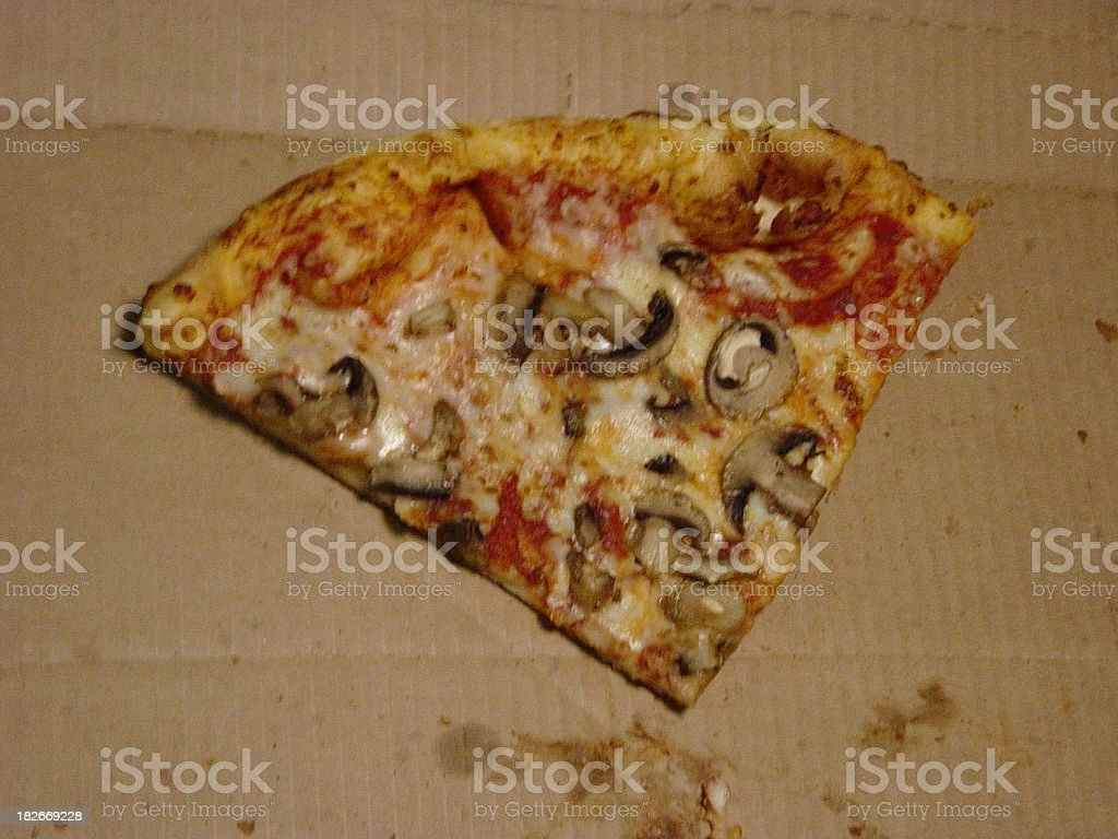 Slice of Mushroom Pizza royalty-free stock photo