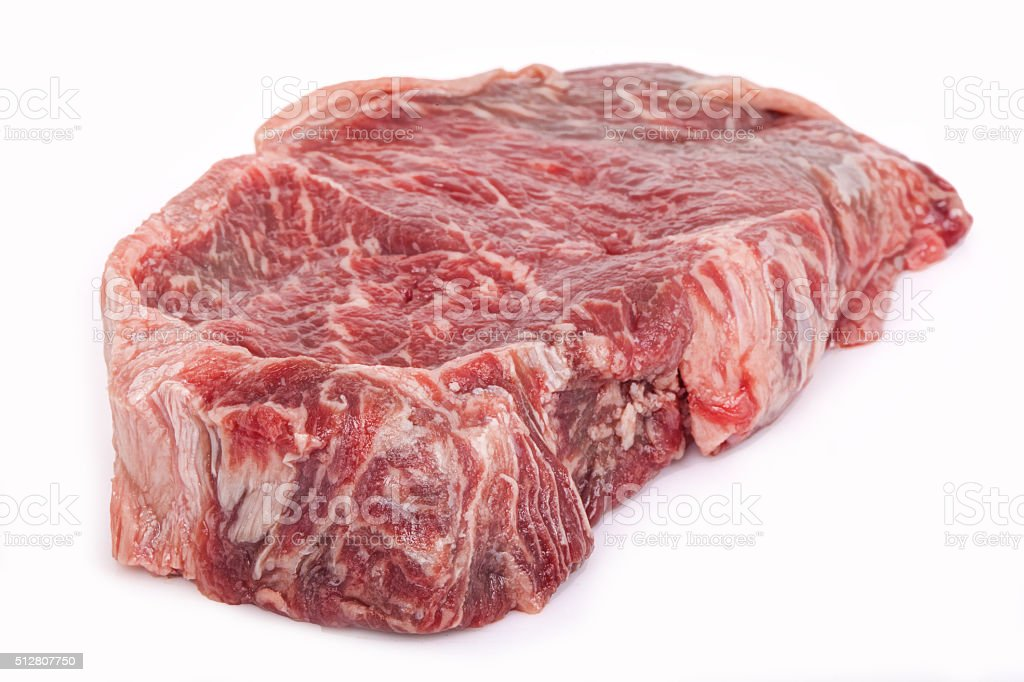 Slice of New York Strip Steak stock photo