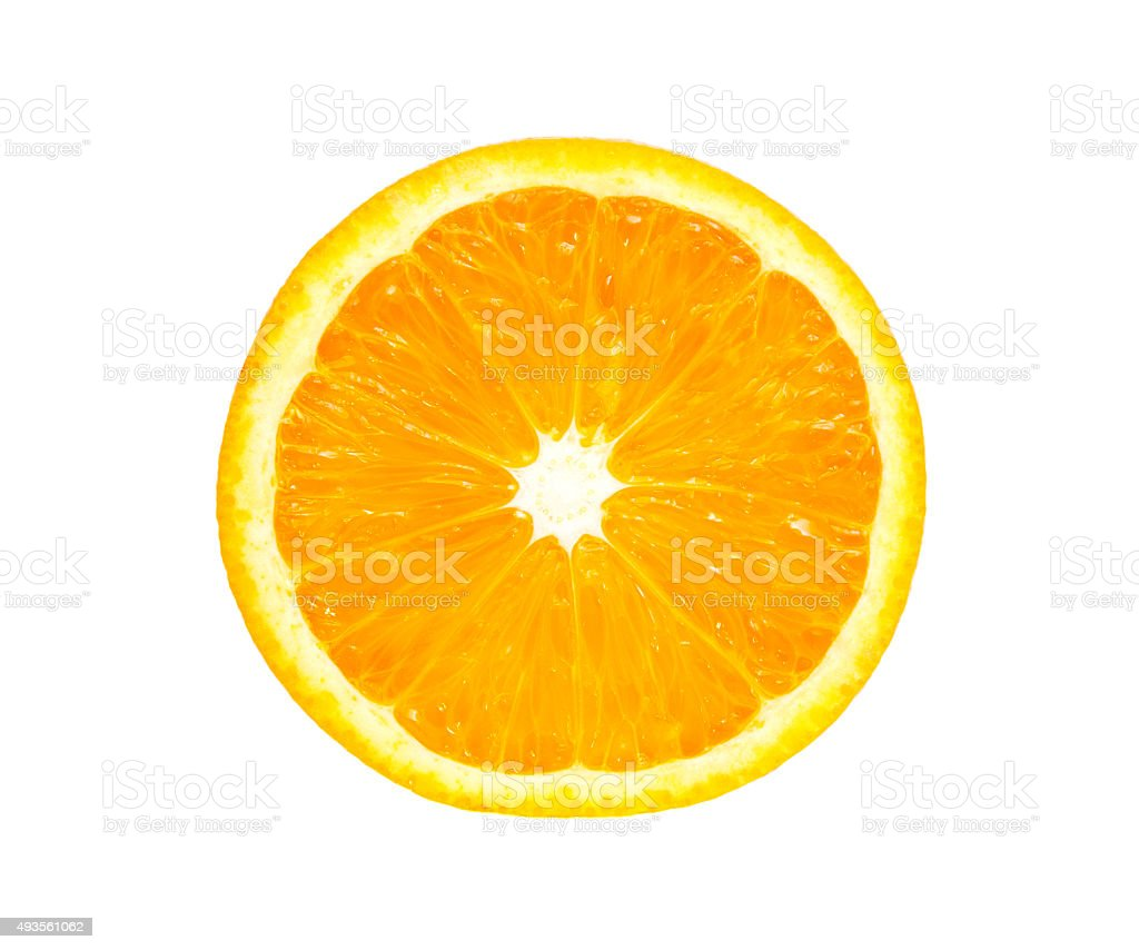 Slice of orange fruit stock photo