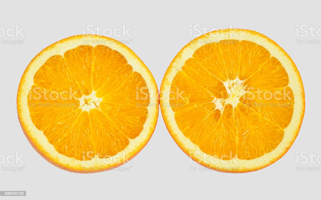Slice of orange fruits stock photo