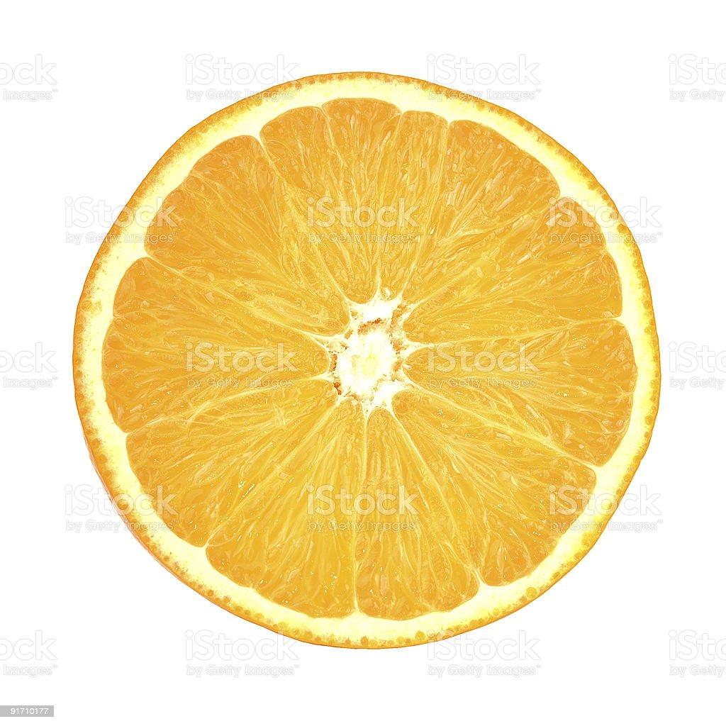 Slice of orange royalty-free stock photo