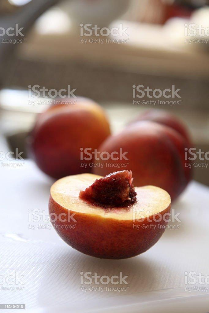 slice of peach royalty-free stock photo
