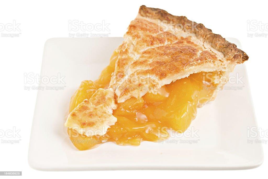 Slice Of Peach Pie stock photo