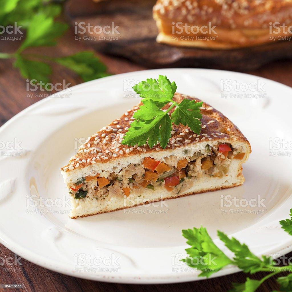 Slice of pie royalty-free stock photo