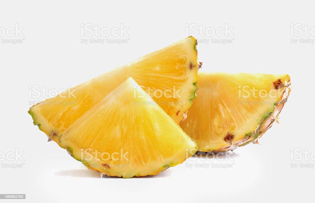 Plaster ananasa na białym tle zbiór zdjęć royalty-free