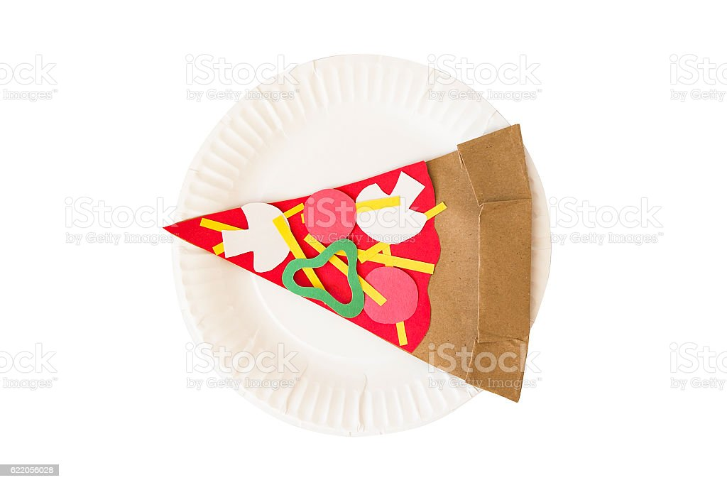 slice of pizza from a paper stock photo