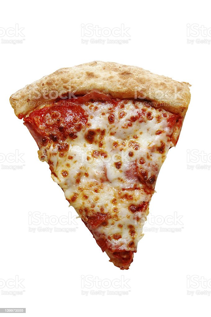 Slice of Pizza Isolated royalty-free stock photo