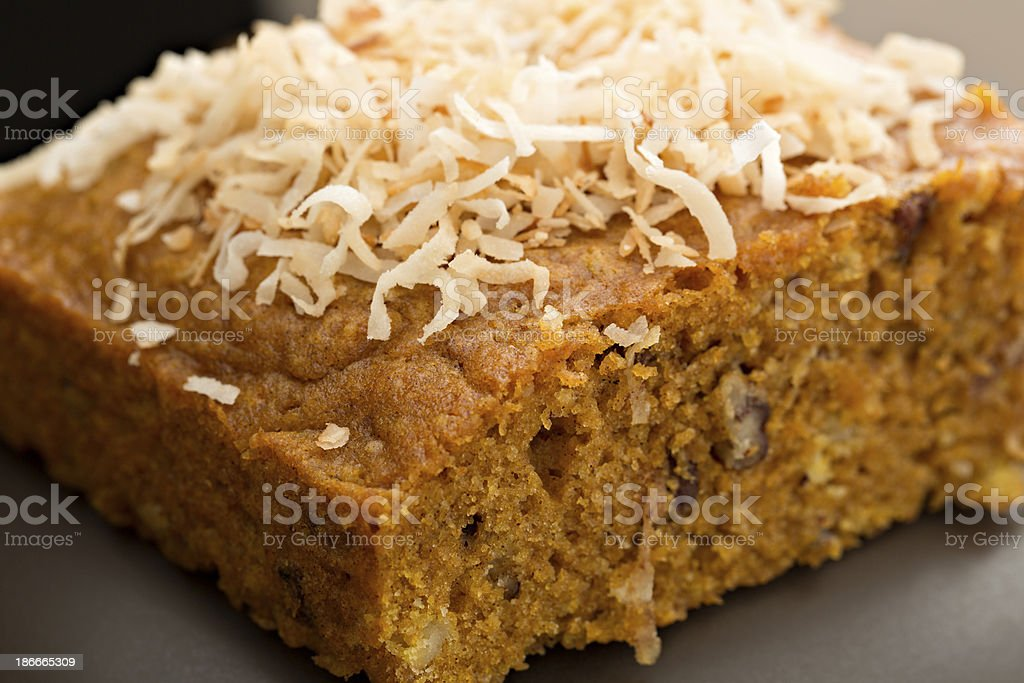 Slice Of Pumpkin Cake royalty-free stock photo