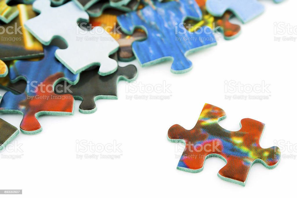 Slice of puzzle royalty-free stock photo