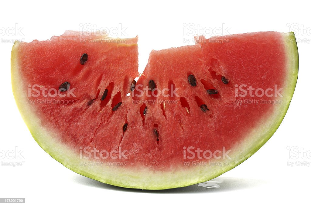 Slice of real  watermelon royalty-free stock photo